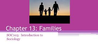 The Family as a Social Institution