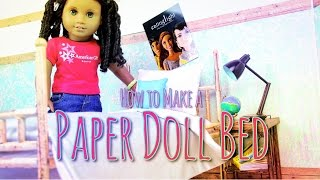 DIY - How To Make: DOLL BED - Paper - Handmade - Doll - Crafts