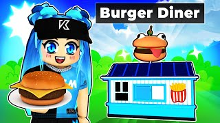 Opening our first BURGER DINER in Roblox!