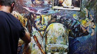 Franko Artist - Indiana Jones Abstract Realism Painting Timelapse