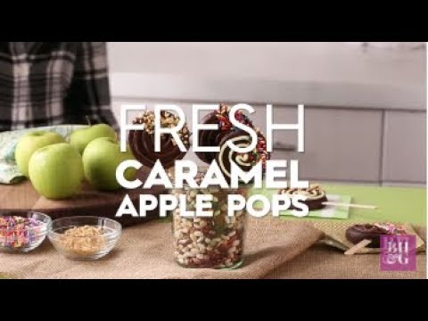 Fresh Caramel Apple Pops | Fun with Food | Better Homes & Gardens