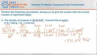 Chemistry Practice Problems: Compound Unit Conversions