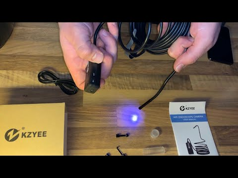 KZYEE HD Endoskopkamera WIFI Inspektionskamera Kabellose Wasserdichte Kamera unboxing und Anleitung