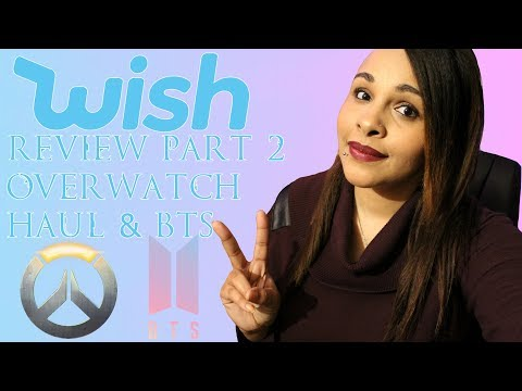 Overwatch Haul & BTS Fail | Wish Review Part 2