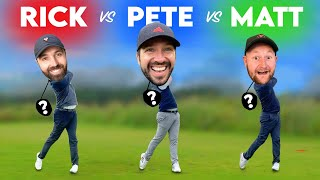 WE SWAP GOLF CLUBS! 9 Hole Special | Rick Shiels Vs Matt Fryer Vs Peter Finch