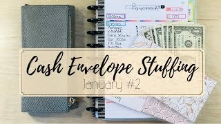 DAVE RAMSEY INSPIRED Cash Envelopes | January Paycheck to Paycheck #2