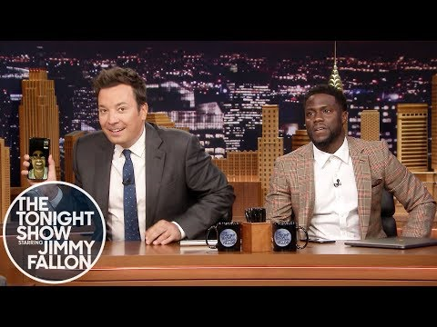 Kevin Hart FaceTimes Dwayne Johnson While Co-Hosting The Tonight Show (видео)