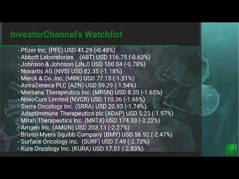 InvestorChannel's Cancer Treatment Watchlist Update for Monday, October, 18, 2021, 16:00 EST