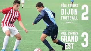Pôle Espoirs Dijon (P15) - Pôle Grand Est : 2-3