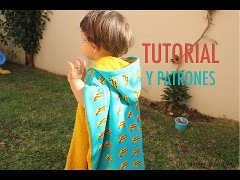 DIY Como hacer poncho toalla para niños (patrones gratis)