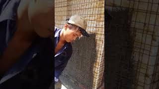 Sử dụng gàu phun cho tường 3d