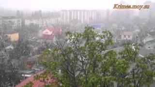 Апрельский снегопад в Крыму.