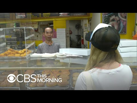 California community buys out donuts so shop owner can spend time with his sick wife.