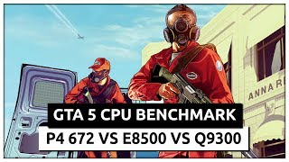 GTA 5 2015 Benchmark - Pentium 4 672 vs Core 2 Duo E8500 (stock-overclocked) vs Core 2 Quad Q9300