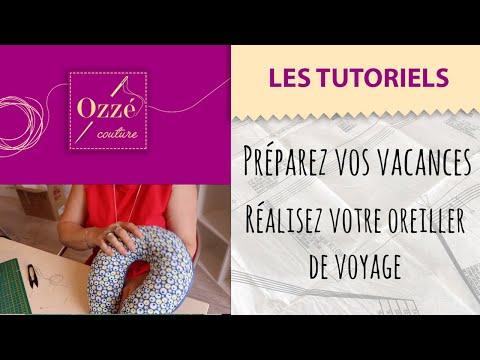 Créez votre oreiller de voyage en 7 minutes | Tuto Ozzé Couture