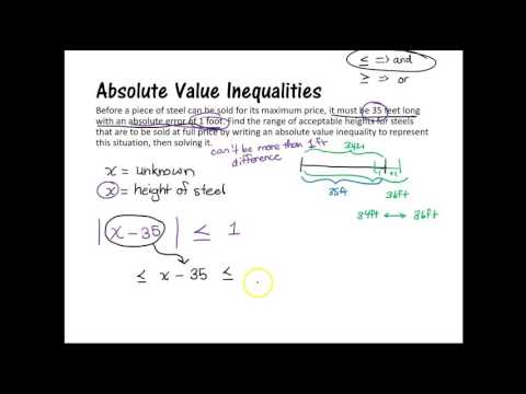 Absolute Value Inequalities Word Problems Expii