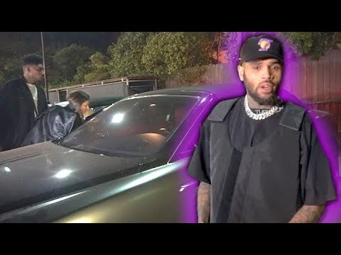 Chris Brown Tells His Date To Ride In The BACKSEAT After Partying In WeHo