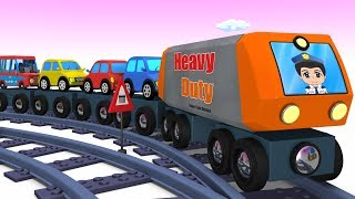 Trains for Kids - Toy Factory - Car Cartoon - Toy Train Videos - Kids Videos for kids - Trains - jcb