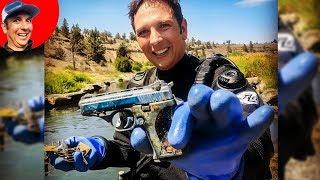 Found STOLEN Gun in River while Scuba Diving! (Police Called)