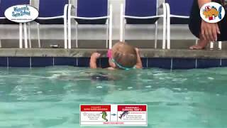 14 month old Robbie demonstrates Smart Fish Method Self-Rescue-Swimming Skills