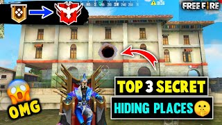 😱 New Top 3 Secret Hiding Places In Bermuda Map - In Free Fire // 5 Star Gaming