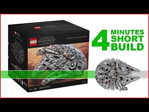 LEGO Millennium Falcon 75192 SHORT BUILD Star Wars - 4 Minutes Fast Build