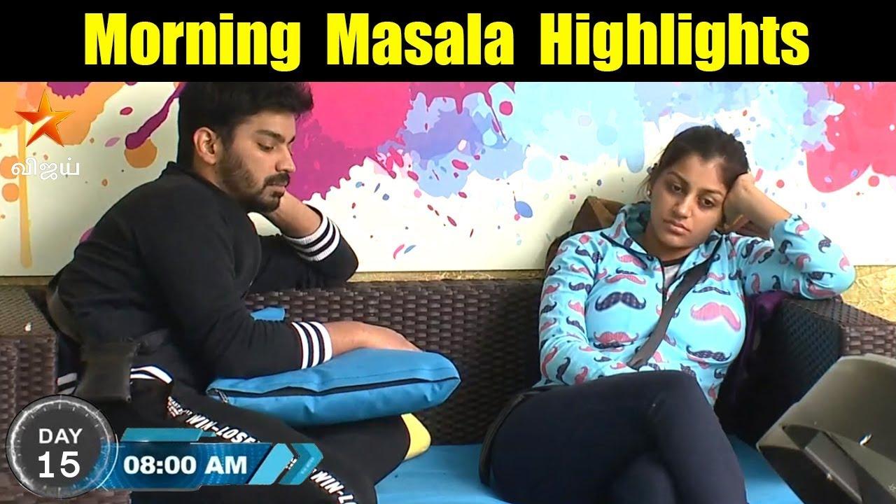 bigg boss tamil 2nd july day 15 morning masala highlights | vijay tv