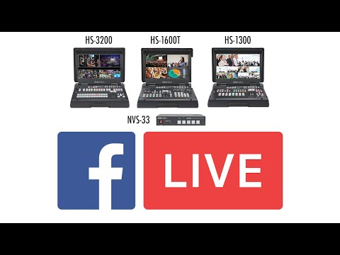 How to Stream to Facebook Live on Datavideo Encoders
