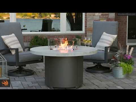 White Onyx Beacon Chat Height Fire Pit Table