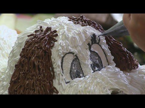 Мастер класс торта - собака