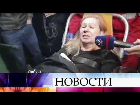 Правозащитница Елена Бережная, которую избили в Киеве, остается под наблюдением врачей. видео
