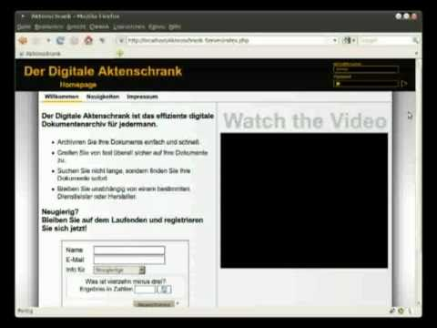 Der Digitale Aktenschrank 01 - Kurz vorgestellt
