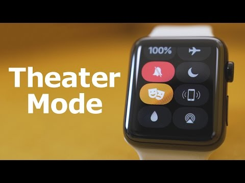 Apple Watch Theater Mode Available in watchOS 3.2 Beta1