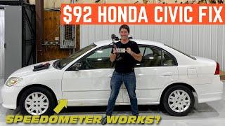I ONLY Spent $92 FIXING My $500 Abandoned Honda Civic