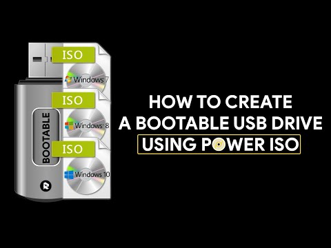 How To Create a Bootable USB Drive Using Power ISO - [romshillzz]