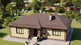 Проект дома 104-C, Площадь дома: 104 м2, Размер дома:  14,8x9,4 м
