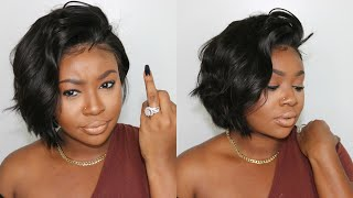 Afsisterwig Pixie Human Hair Wig Review   Under $100   Glueless Install And Style