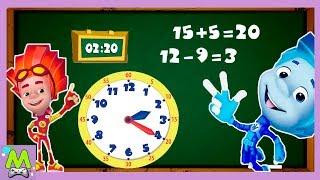 Фиксики Учат Время.Математика для Детей.Подготовка к Школе.Геймплей Игры