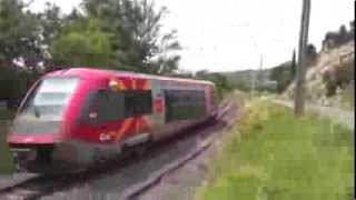 preview picture of video 'French Trains - Quillian, Limoux, Carcassonne Branch Line'