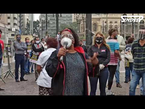 Sindsep, entidades, trabalhadores e usuários realizam ato contra privatizações do serviços públicos
