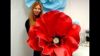 Мастер класс- большие цветы из изолона( фоамирана).ИДЕЯ на НОВЫЙ ГОД . Крым