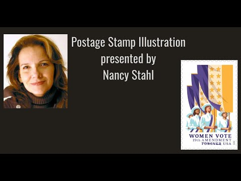 "APS Stamp Chat: """"Postage Stamp Illustration"" presented by designer, Nancy Stahl"
