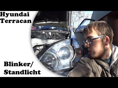 Standlicht und Blinker ausbauen | Hyundai Terracan