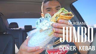 JUMBO Doner Kebab | Mukbang | QT | Dürüm Döner