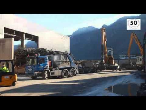 Stauss Container-Sortieranlage Baurestmassen, Papier, Pappe Kompost