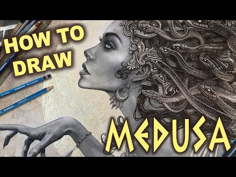 drawing medusa dark fantasy art tutorial by christopher lovell