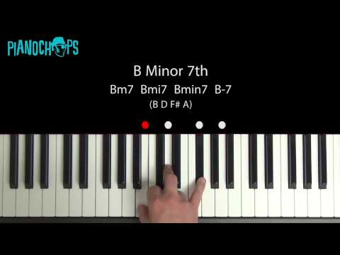 B minor 7 on Piano - Bm7
