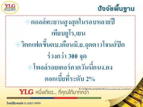 YLG บทวิเคราะห์ราคาทองคำประจำวัน 11-03-15