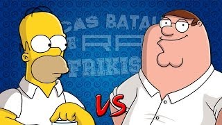 Homer Simpson vs Peter Griffin. Épicas Batallas de Rap del Frikismo | Keyblade ft. Zarcort
