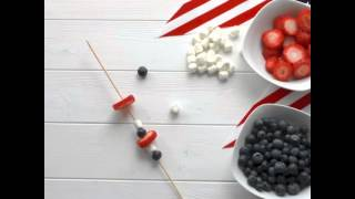 Patriotic Fruit Kabobs